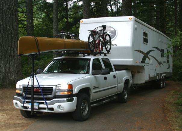 Rv Net Open Roads Forum Fifth Wheels Canoe Kayak Rack